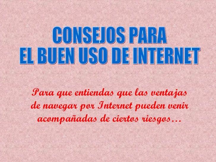 Uso responsable de Internet