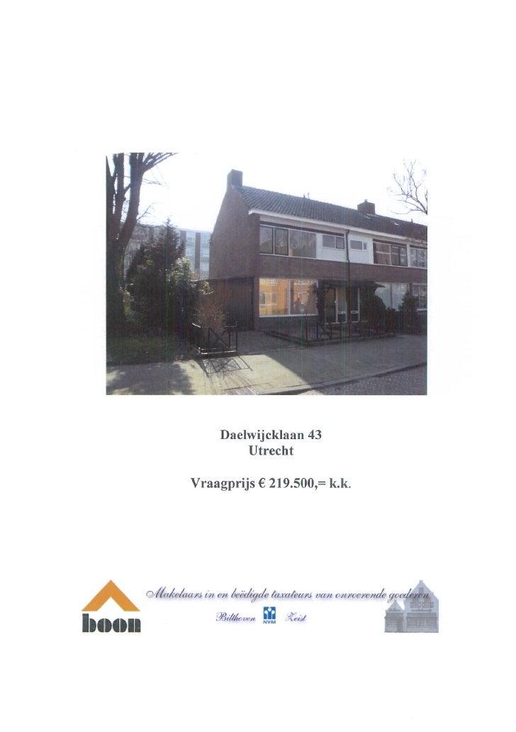 Daelwijcklaan 43 Utrecht (www.boonmakelaars.nl)