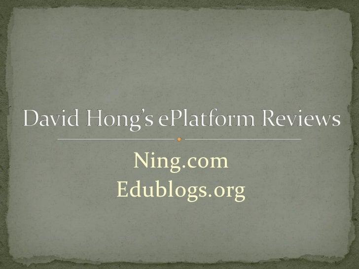 Ning.com Edublogs.org