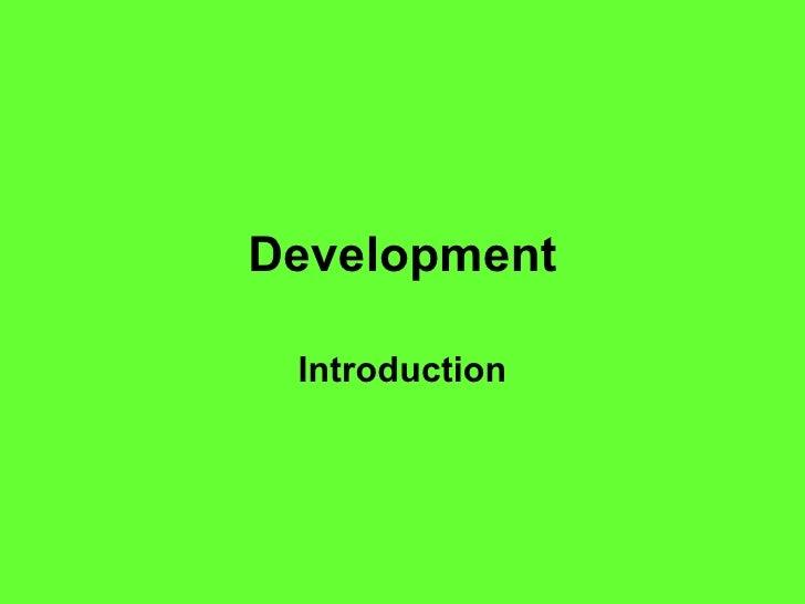 Development Introduction