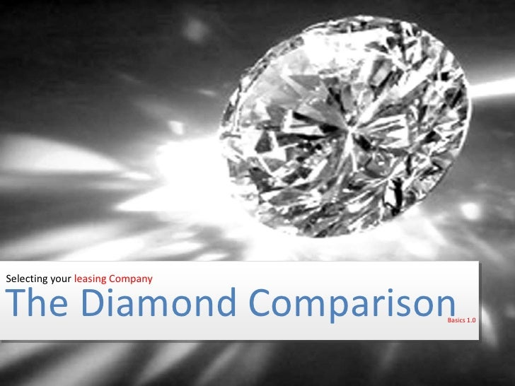 Selecting your leasing Company<br />The Diamond Comparison<br />Basics 1.0<br />