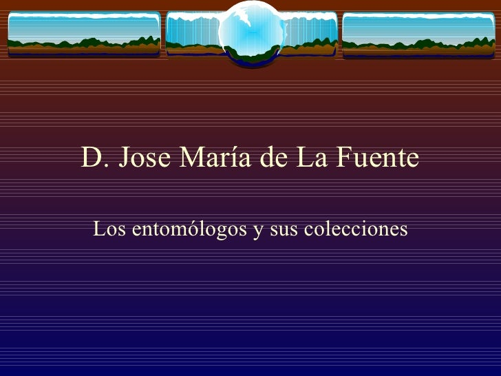 D. Jose María de La Fuente Los entomólogos y sus colecciones