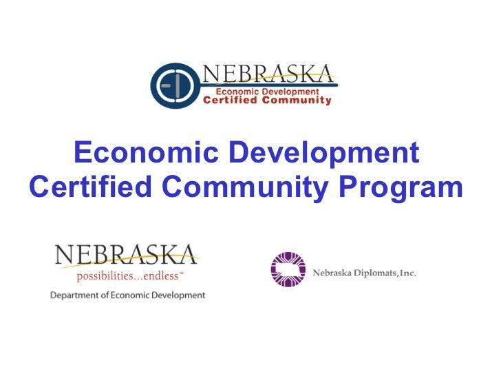 Economic Development Certified Community Program