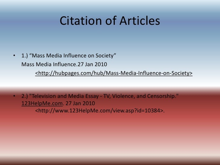 impacts and influences essays on media power Stefanie fuchs english a2 hl free writing assignment how does media impact on our daily life media has dramatically influenced related as and a level media essays.