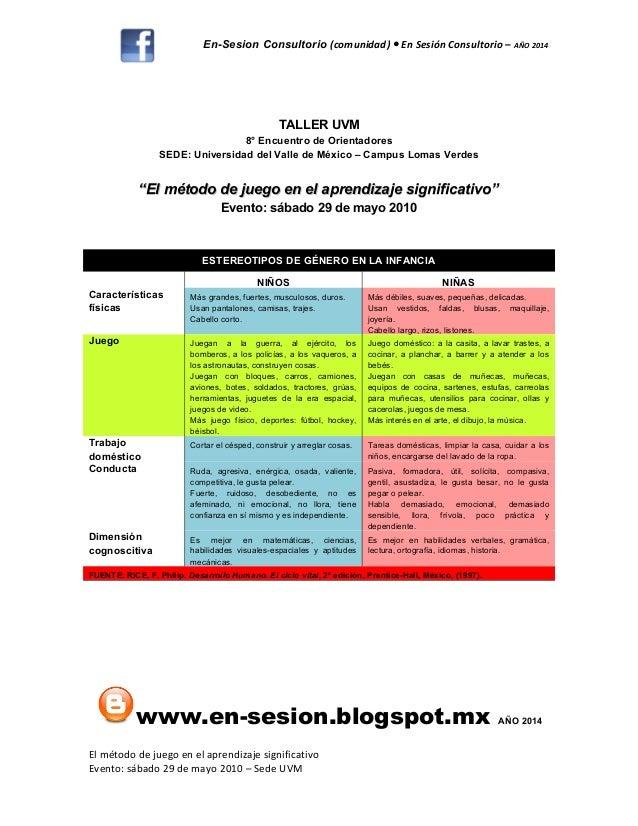 En-Sesion Consultorio (comunidad) En Sesión Consultorio –● AÑO 2014 TALLER UVM 8° Encuentro de Orientadores SEDE: Universi...