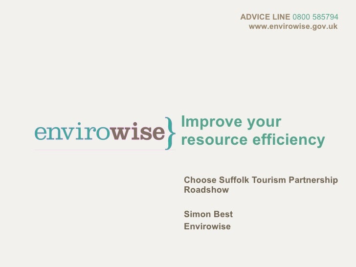 Greening your Business: Free Support from Envirowise