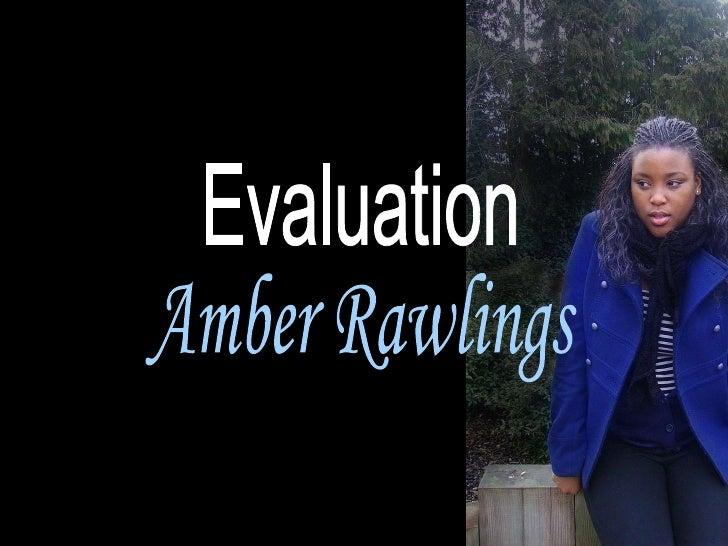 Evaluation Amber Rawlings