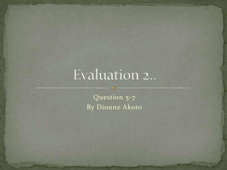 Evaluation Media 2