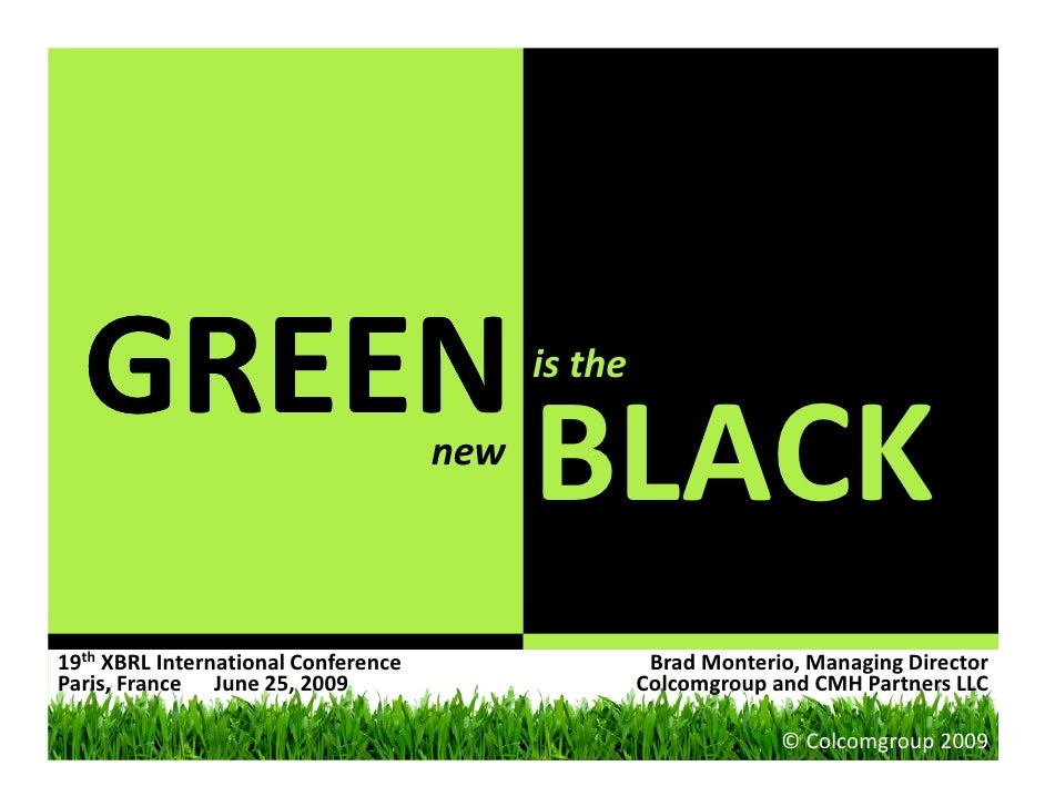 Sustainability Reporting: Green is the New Black