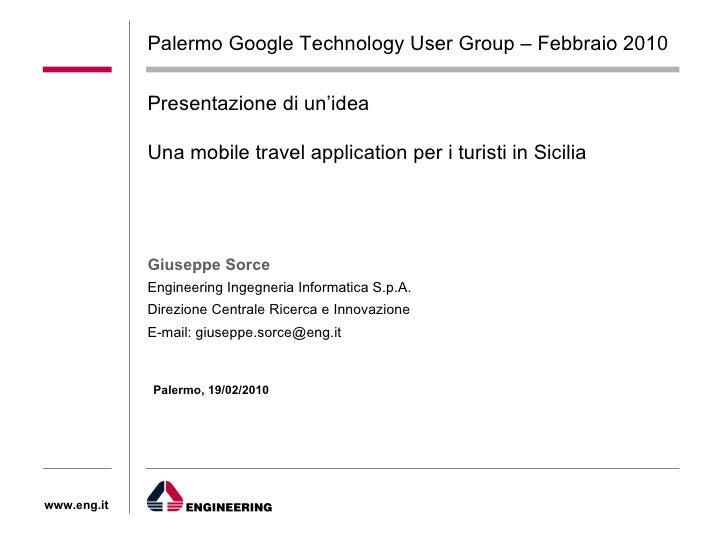 Mobile Application for Tourism, idea per i turisti in Sicilia