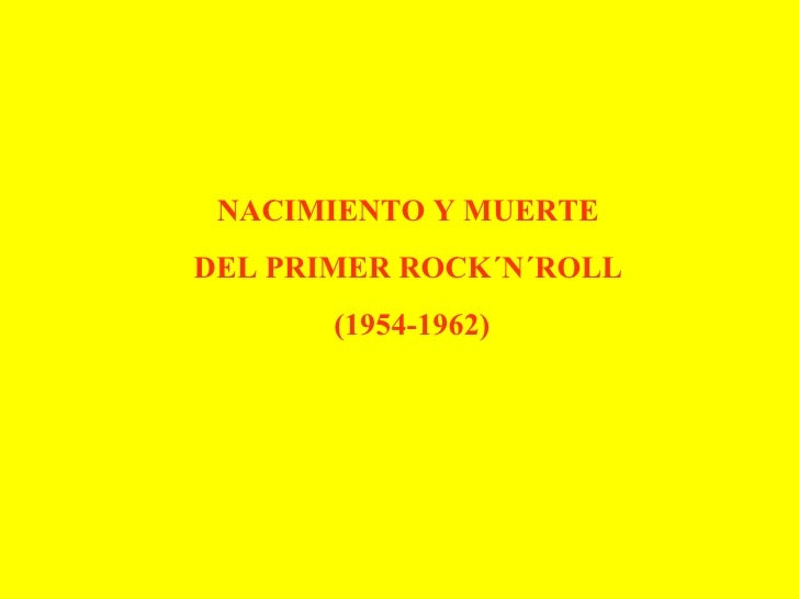 Historia Rock 50s