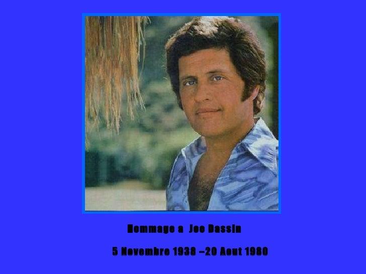 Hommage à Joe Dassin