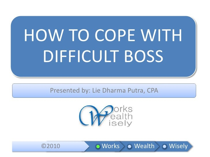 How to Cope with Difficult Boss