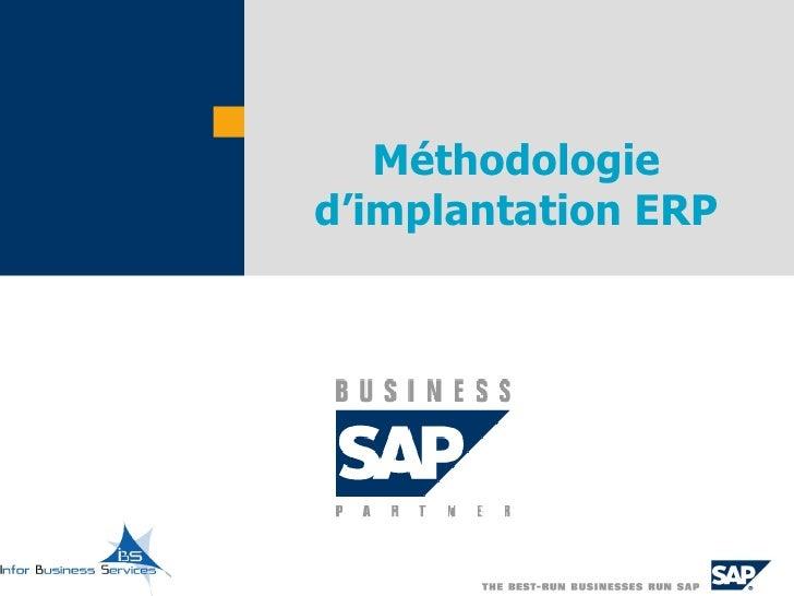Méthodologie d'implantation ERP