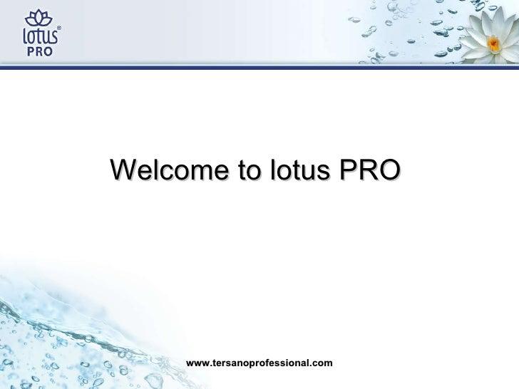 <ul><li>Welcome to lotus PRO  </li></ul>