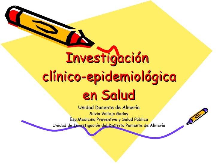investigacion clinico epidemiologica
