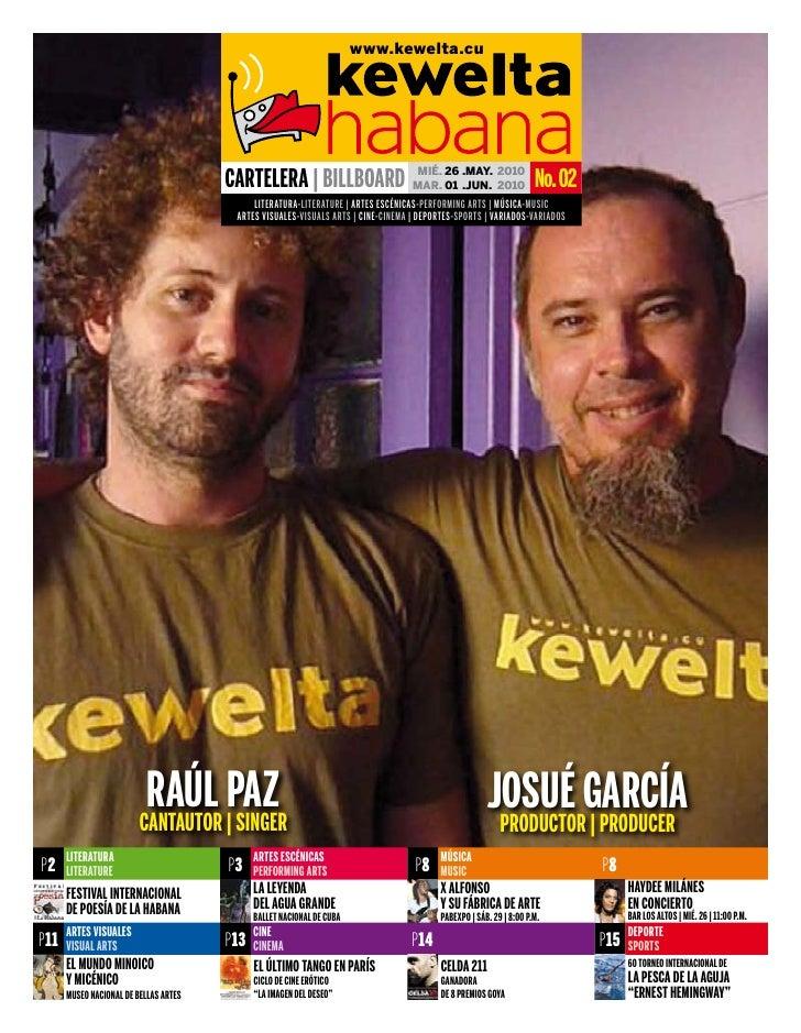 Cartelera Cultural Kewelta Habana 02