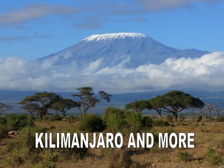 C:\Fakepath\Kilimanjaro And More