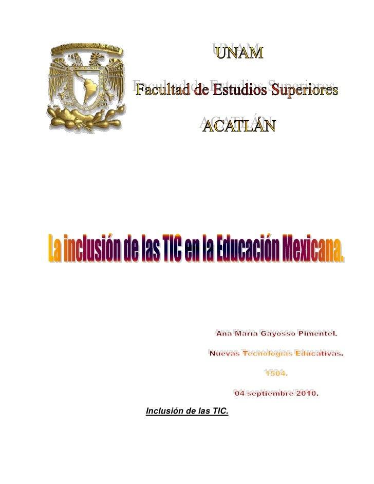 """-1181105080<br /> <br />               <br />Inclusión de las TIC.<br />La """" Sociedad de la Información""""  en general y las..."""