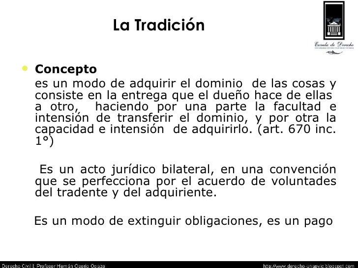 La Tradicion 05 - Derecho Civil I