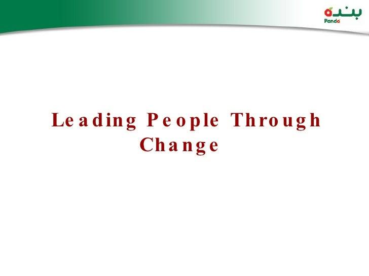 Leading People Through Change