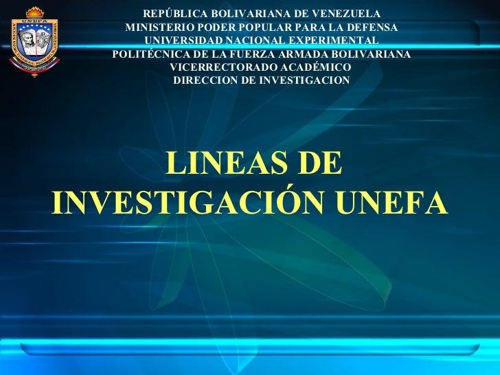 Lineas de Investigación UNEFA