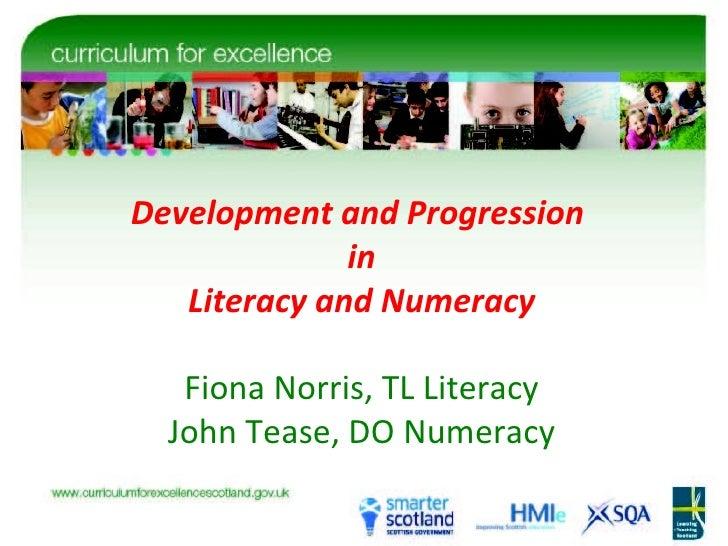 CfE Literacy and Numeracy