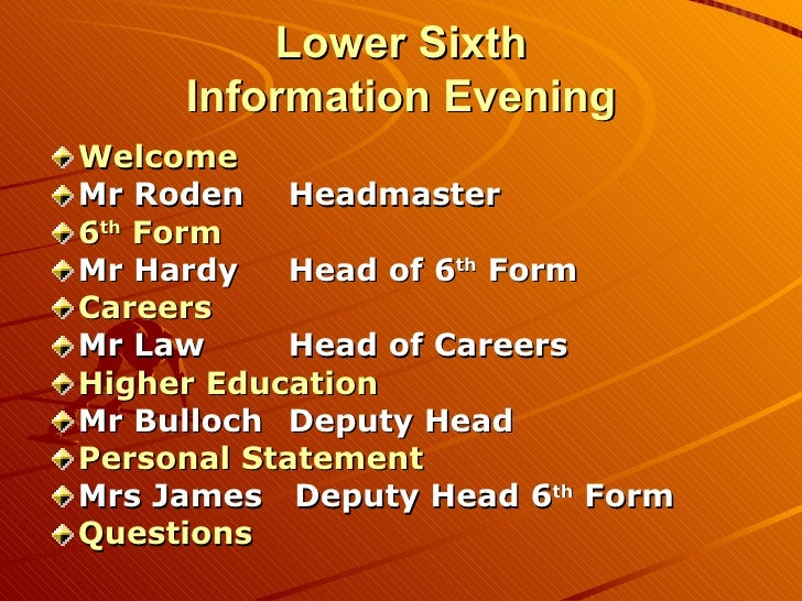 C:\Fakepath\Lower Sixth Information Evening 2010