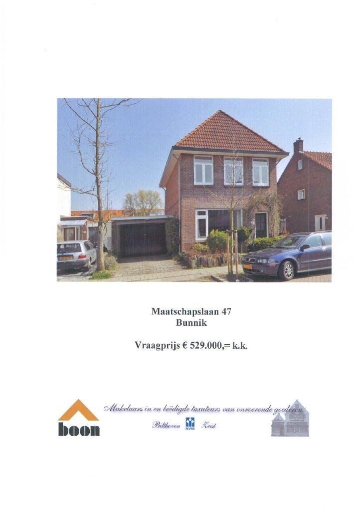 Maatschapslaan 47 Bunnik (www.boonmakelaars.nl)
