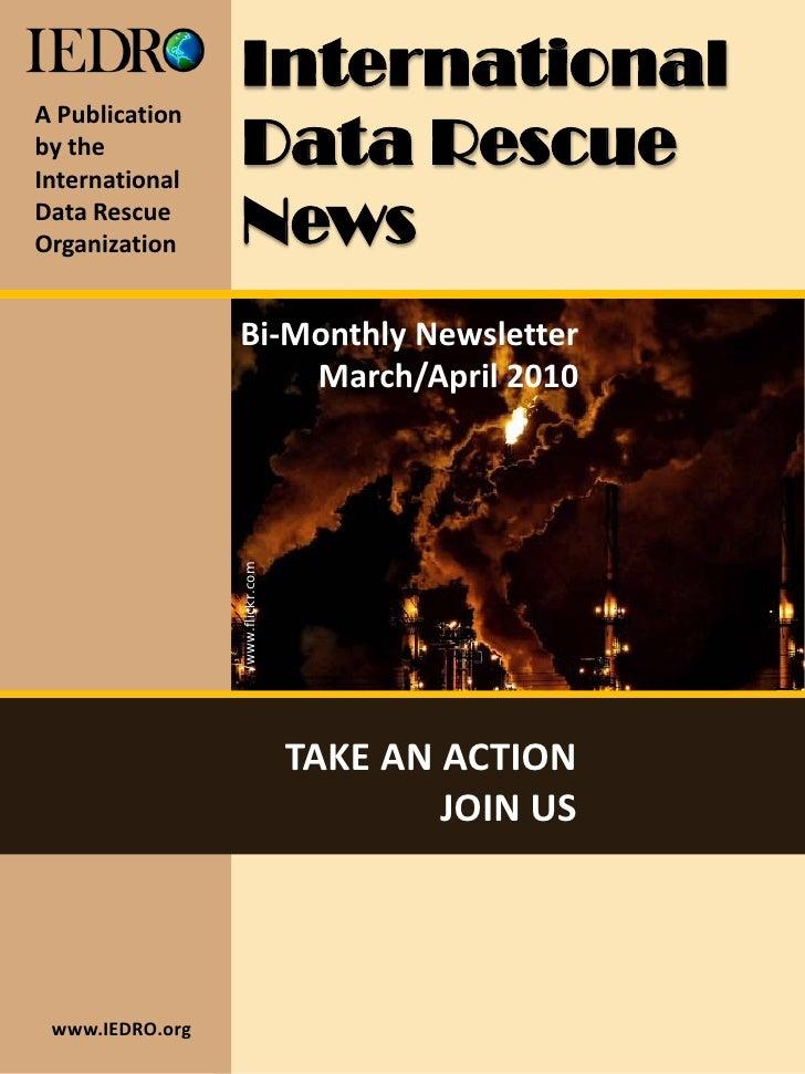 International A Publication by the International                   Data Rescue Data Rescue Organization      News         ...
