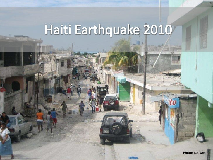 Nigel Snoad Haiti Earthquake Brief