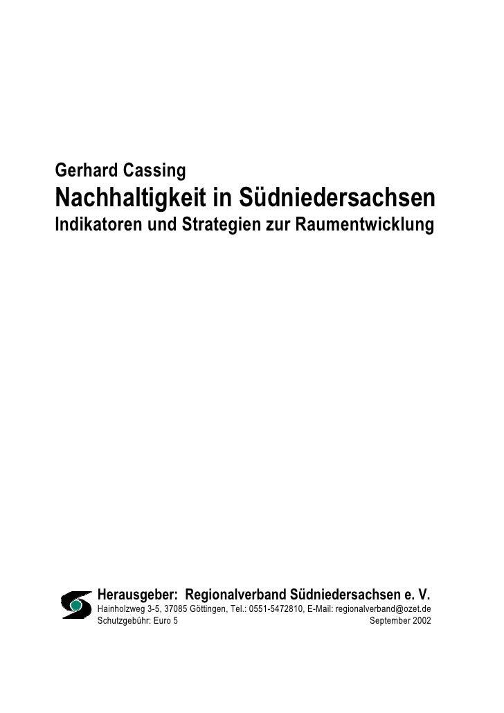 Nachhaltigkeit in Suedniedersachsen
