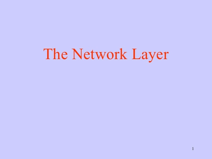 Network Layer,Computer Networks