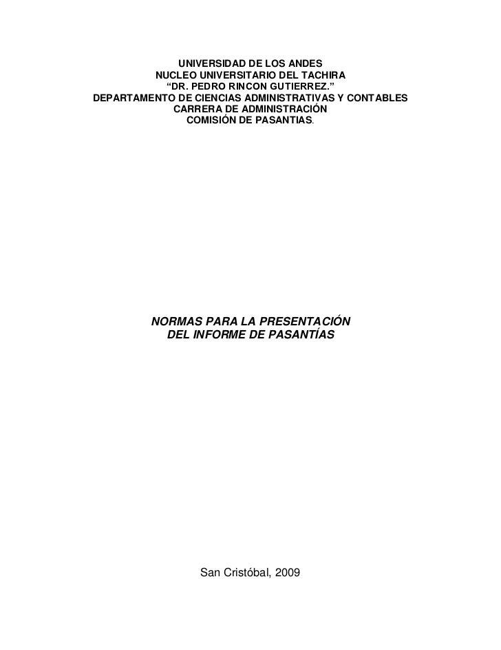 Normas del Informe