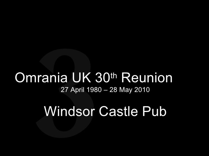 Omrania UK 30th Reunion FINAL