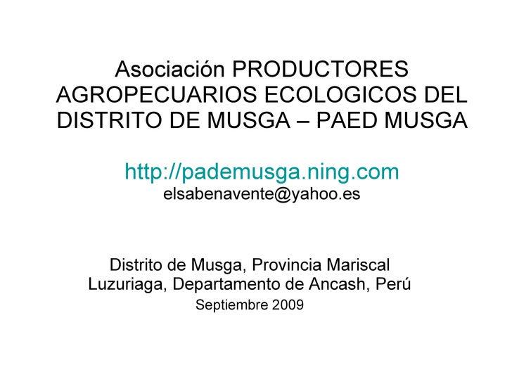 FOTOS PAED MUSGA- DISTRITO DE MUSGA, ANCASH