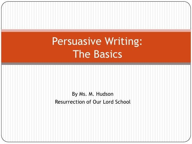 hspa persuasive essay powerpoint