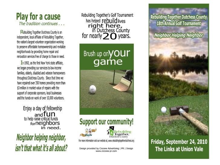 Rebuilding Together Dutchess County Golf Tournament