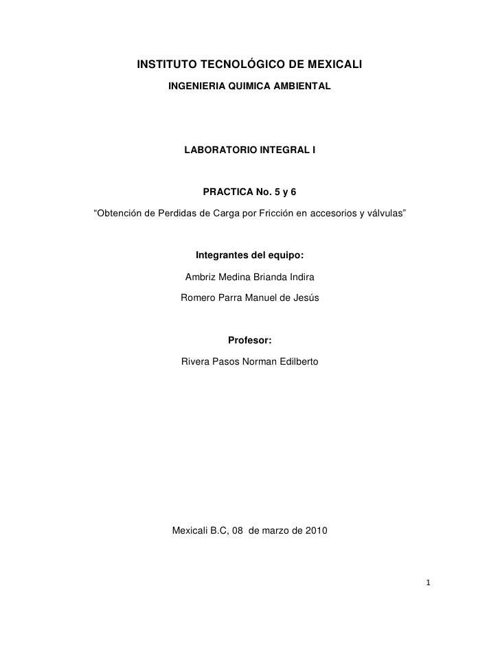INSTITUTO TECNOLÓGICO DE MEXICALI                 INGENIERIA QUIMICA AMBIENTAL                         LABORATORIO INTEGRA...