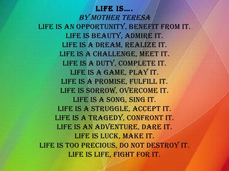life is a challenge meet it essay How would i go about writing an essay on character written by kori morgan including past experiences that have shaped you, challenges you've faced, qualities that make you unique and your world views and beliefs honesty since your own life is so familiar to you.