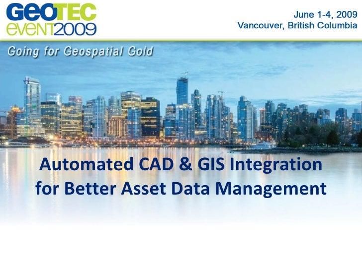 CAD GIS Integration Workshop