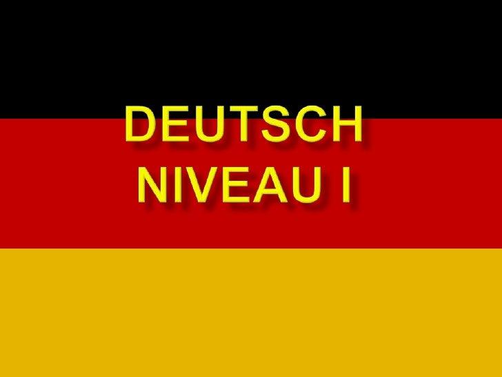 DeutschNiveau I<br />