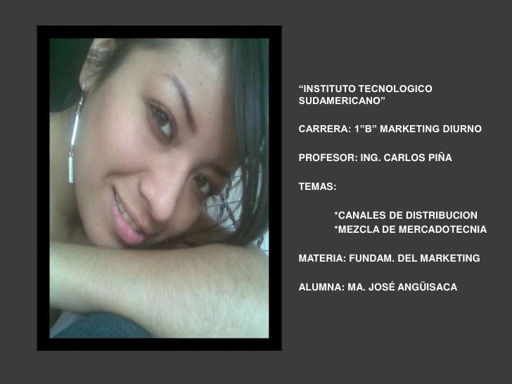 """INSTITUTO TECNOLOGICO SUDAMERICANO""<br />CARRERA: 1""B"" MARKETING DIURNO<br />PROFESOR: ING. CARLOS PIÑA<br />TEMAS:<br />..."