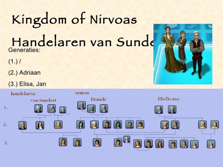 Kingdom of Nirvoas Handelaren van Sundert Generaties: (1.) / (2.) Adriaan (3.) Elisa, Jan
