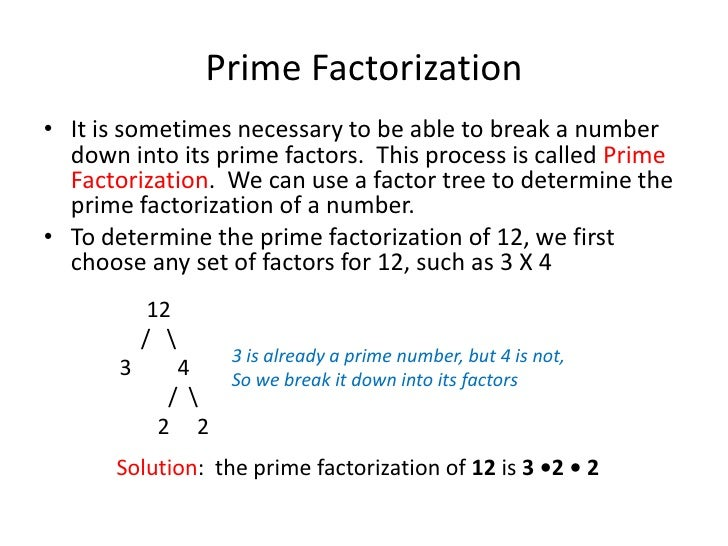 Prime Factorization & Fractions