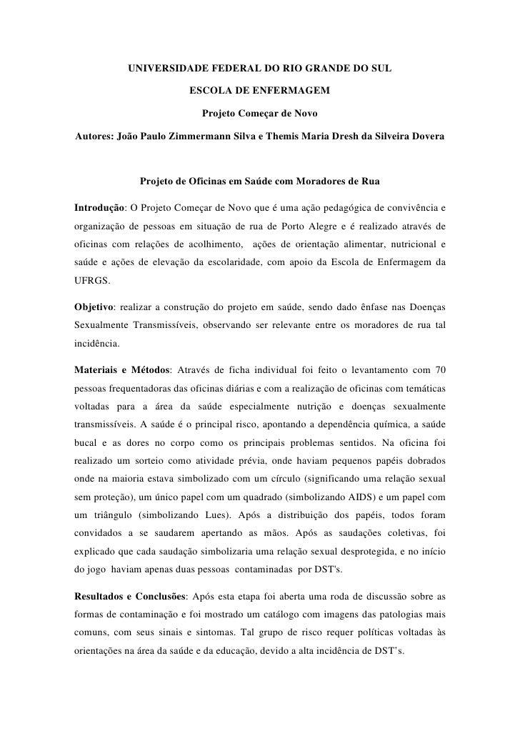 UNIVERSIDADE FEDERAL DO RIO GRANDE DO SUL                             ESCOLA DE ENFERMAGEM                                ...