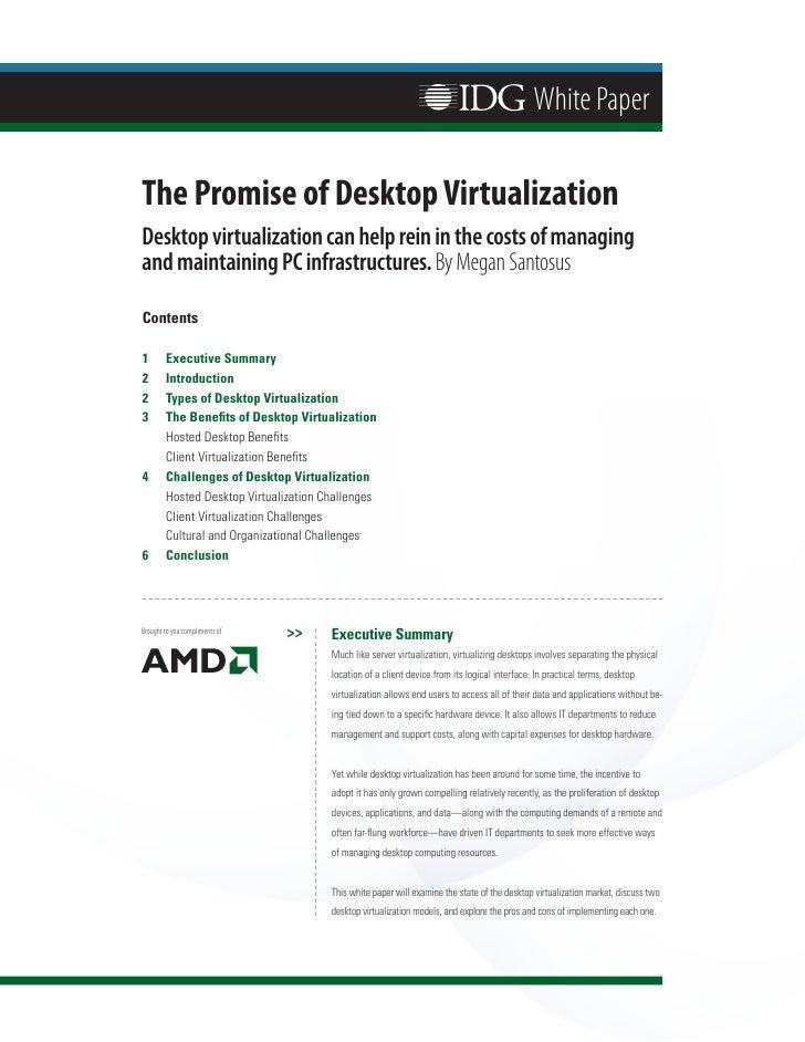 The Promise of Desktop Virtualization
