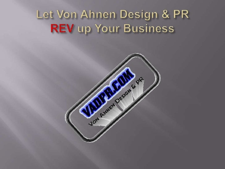 REV up Your Business - VADPR's take on E-PR