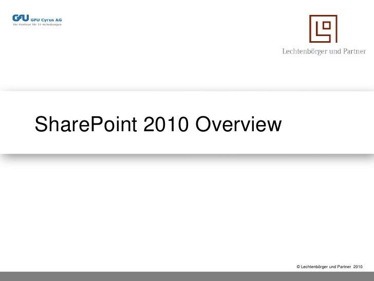 SharePoint 2010 - Was ist neu, was wird besser!