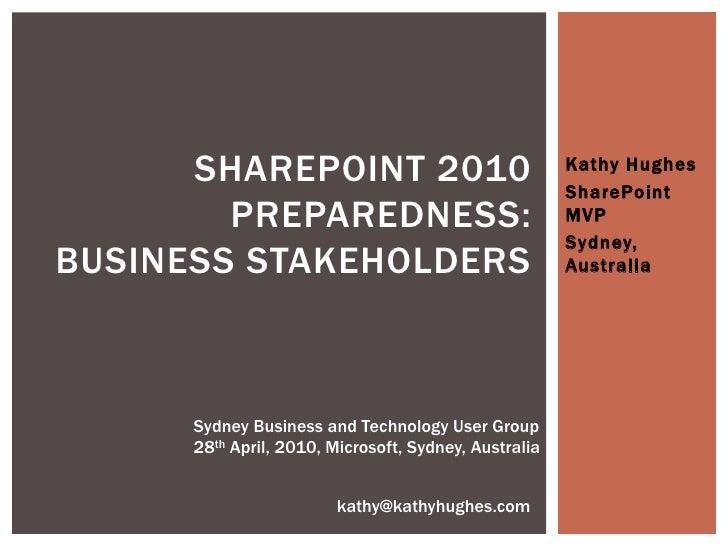 SHAREPOINT 2010                                  Kathy Hughes                                                        Share...